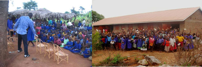 From Poor Learning Environment To The Better New Three Class Block Equipped With Desks