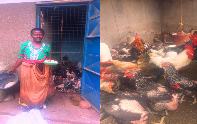 Monica Mutesi - One of our beneficiaries venturing in Koirorer local Poultry farming